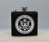 Black and Silver Army Flask