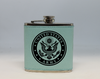 Teal  Army Flask