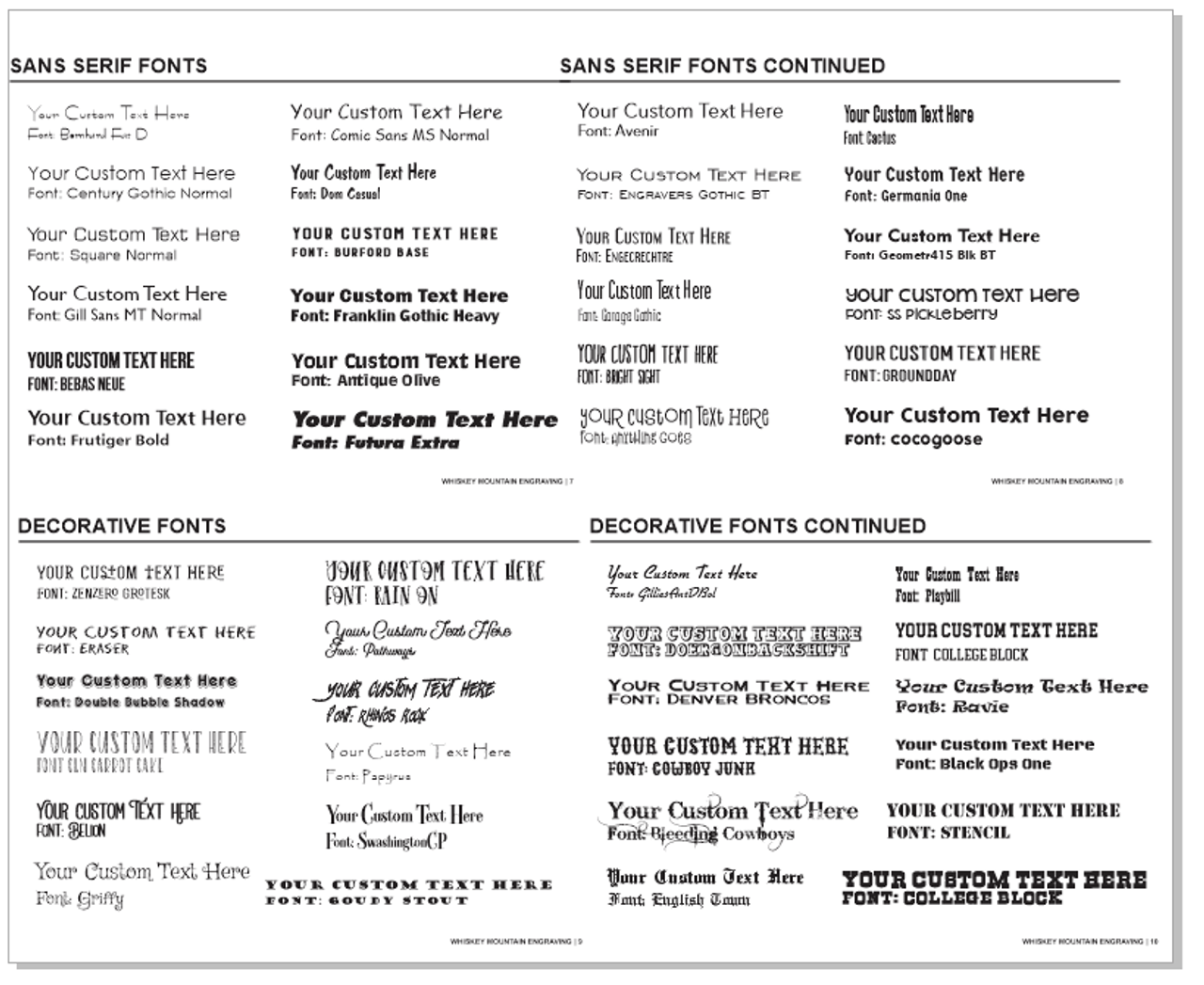 Fonts Page 1