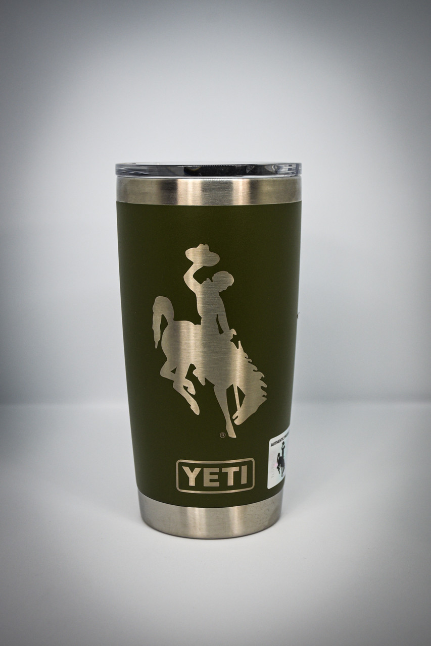 OD Green 20 oz Wyoming Steamboat Yeti Rambler