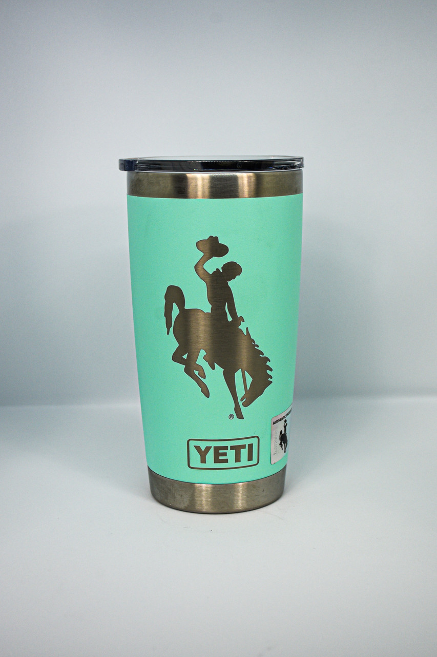Tiffany Blue 20 oz Wyoming Steamboat Yeti Rambler