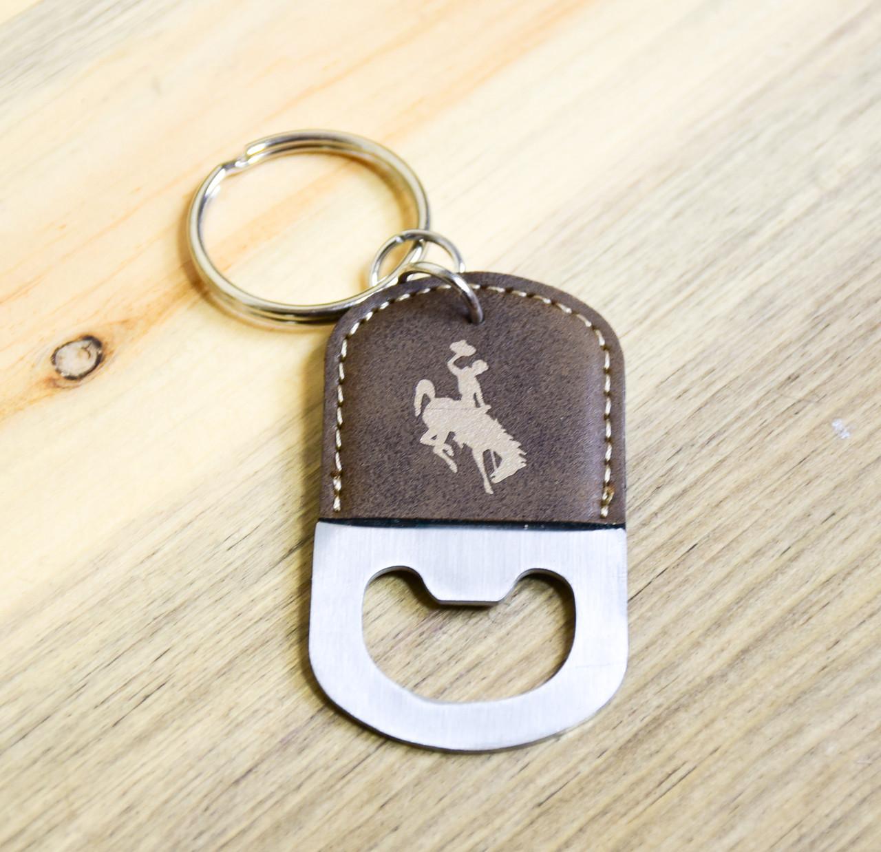 Wyoming Steamboat Key Chain Bottle Opener