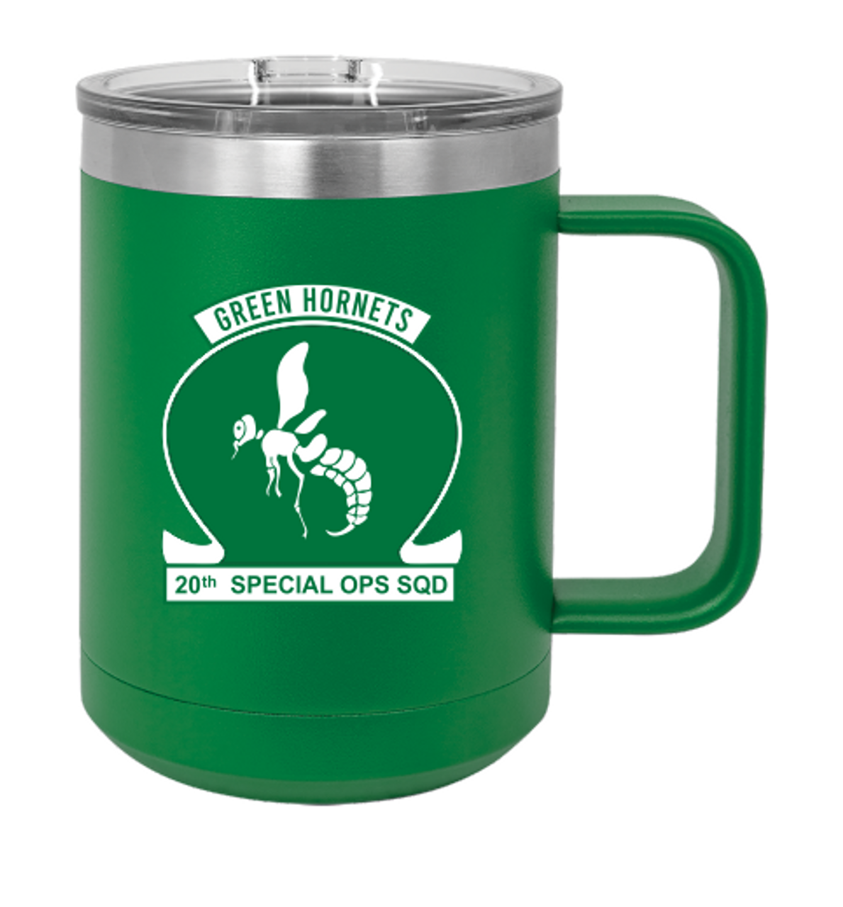 Green Hornets Stainless Steel Coffee Cup