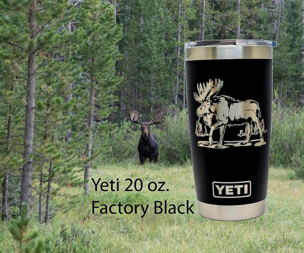 Moose Yeti Rambler on 20 oz Black