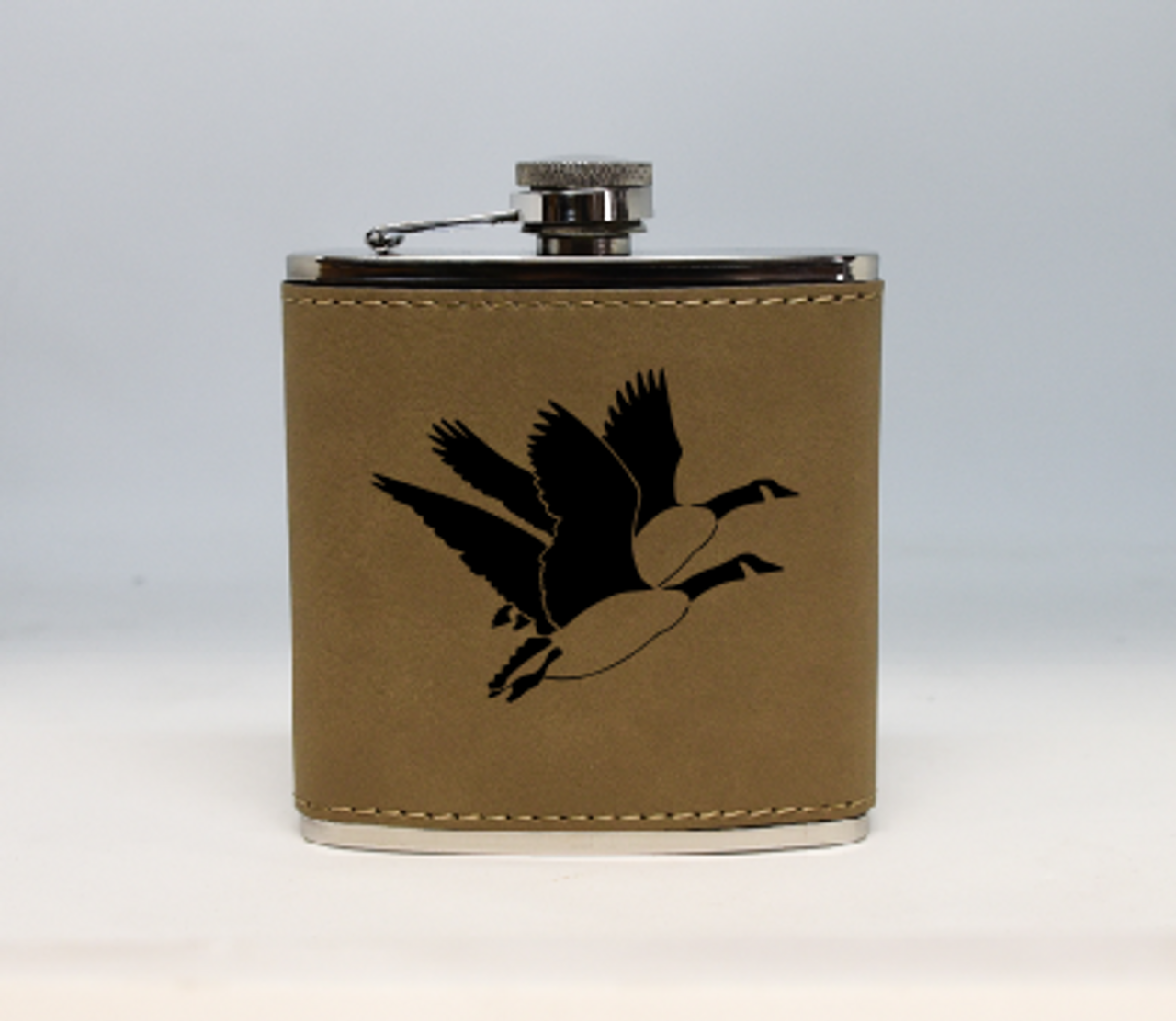 Tan Geese Flask