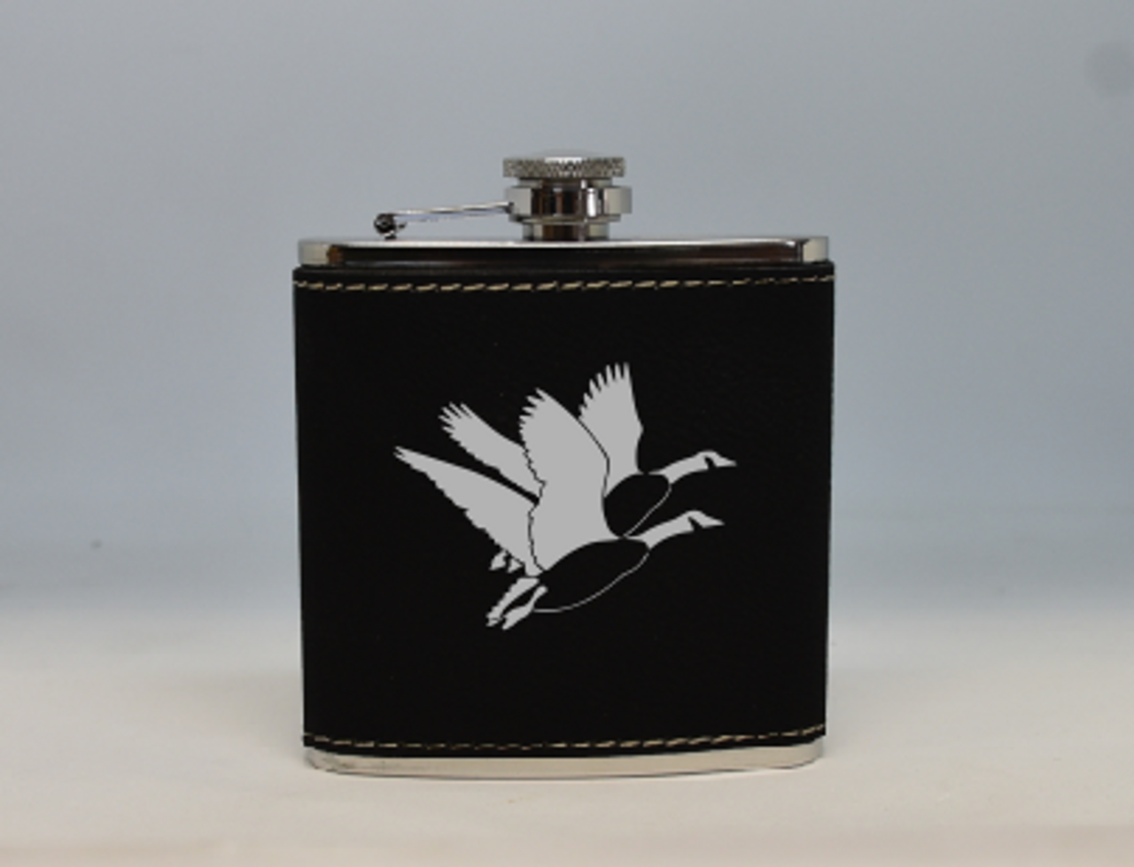 Black and Silver Geese Flask