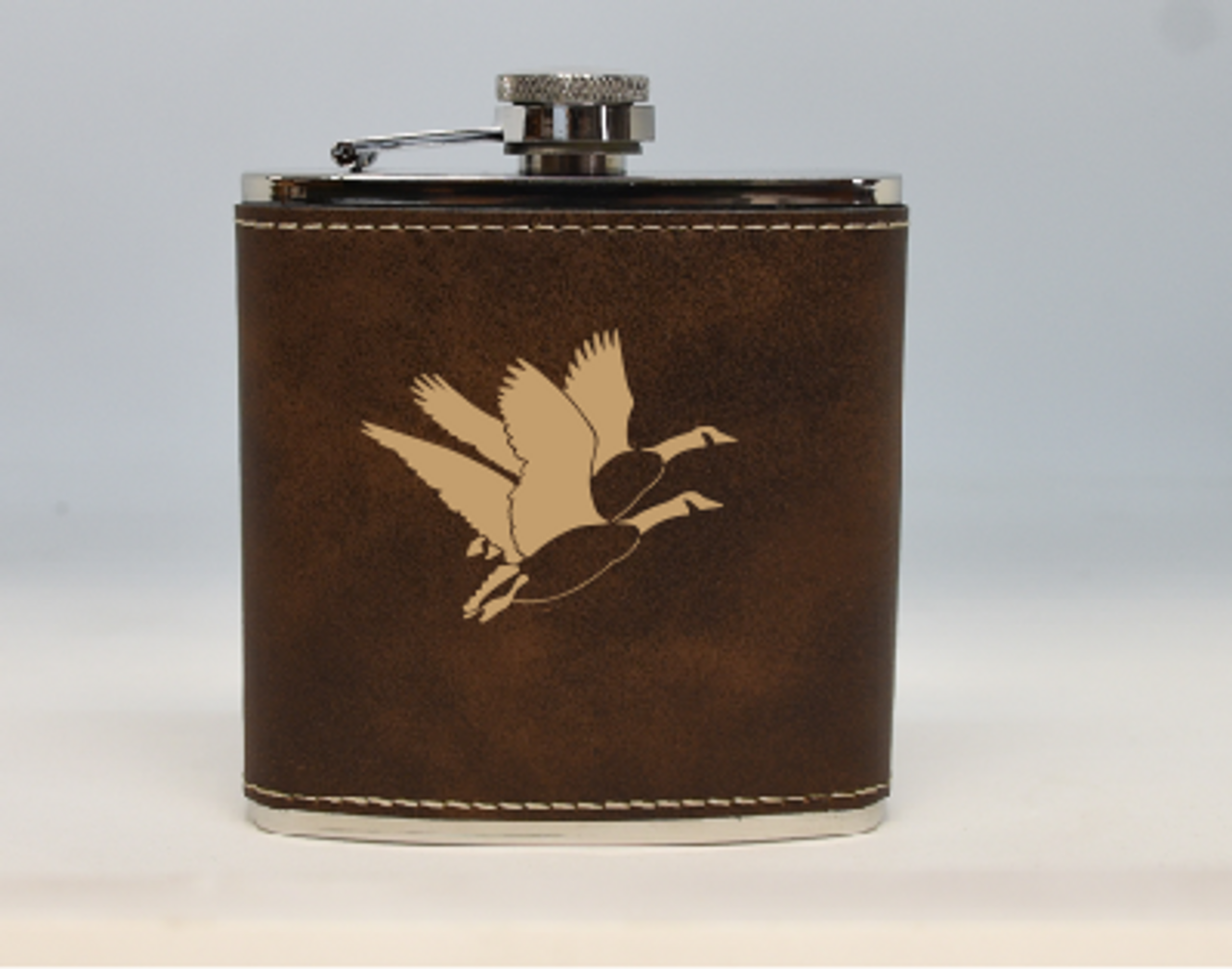 Brown and Gold Geese Flask