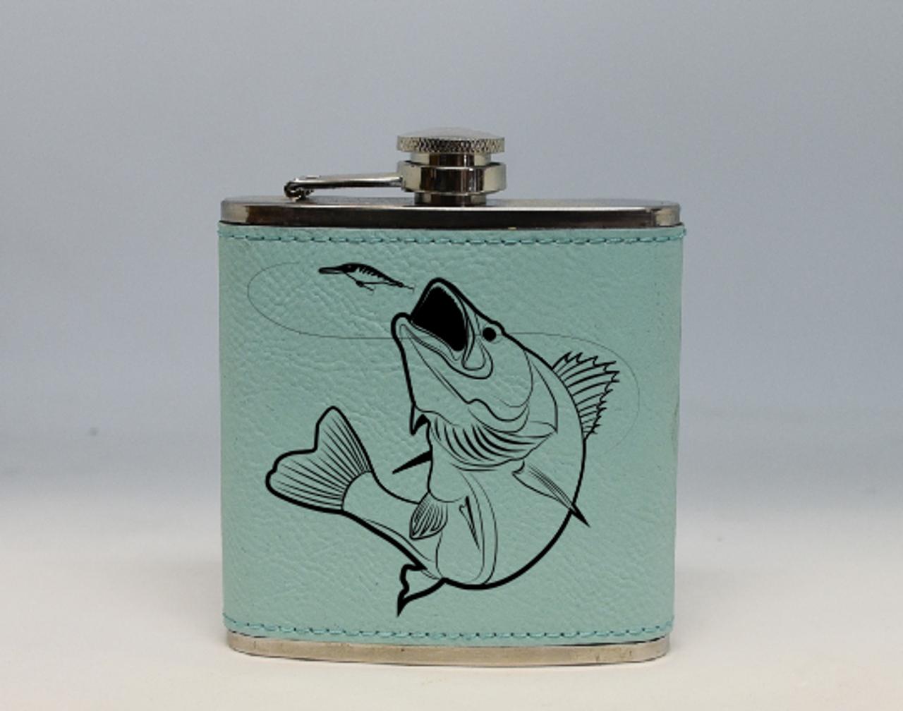 Teal Walleye Flask