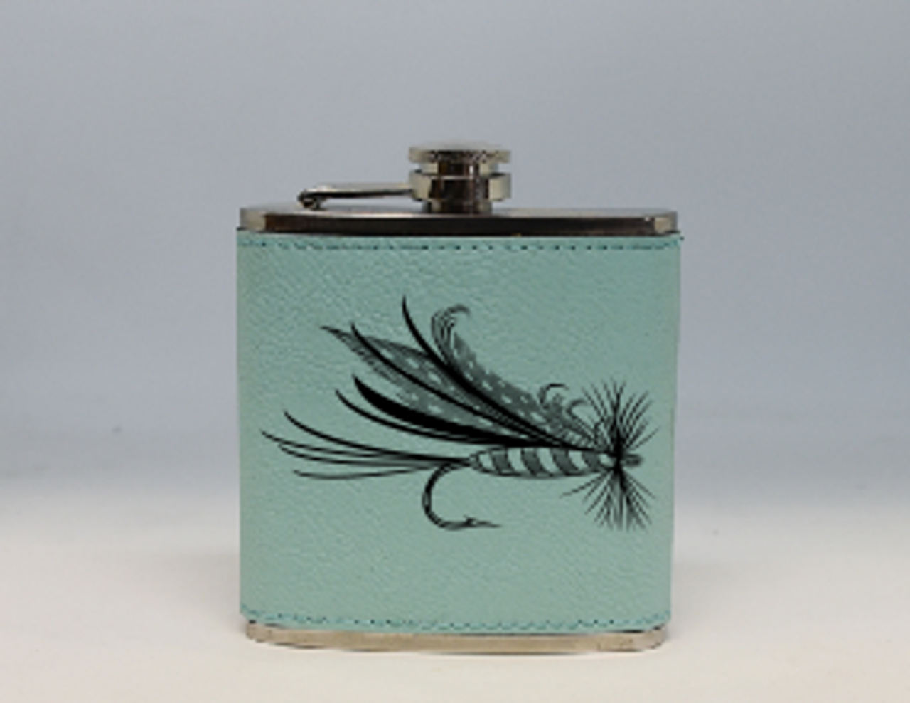 Teal Fly Flask