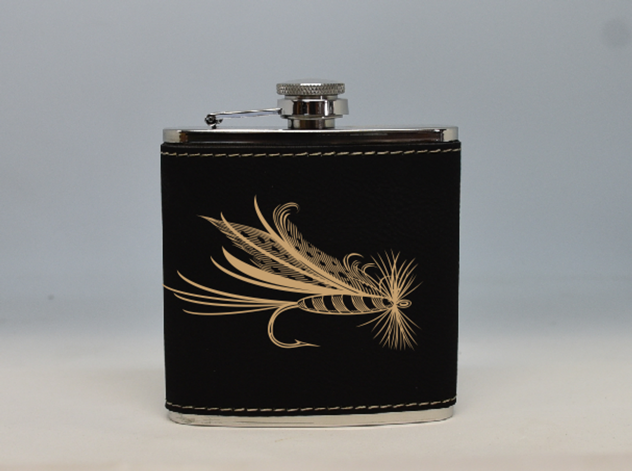 Black and Gold Fly Flask
