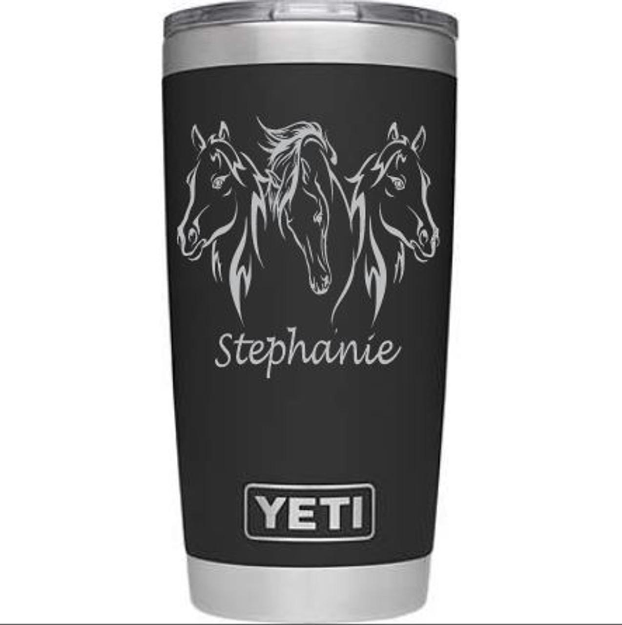 Three Horses Yeti - on 20 oz Rambler