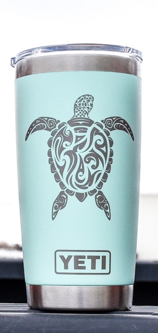 Sea Turtle on Chartreuse 20oz Yeti