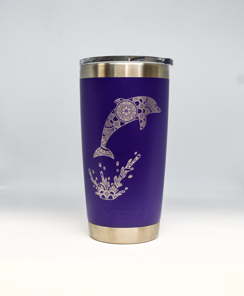 20 oz Purple Jumping Dolphin