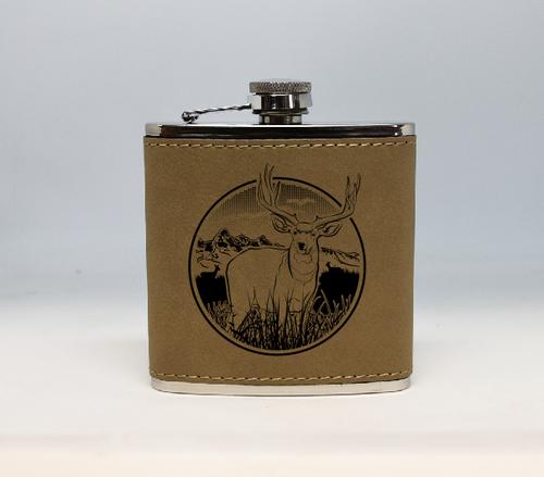 Tan Mule Deer Flask