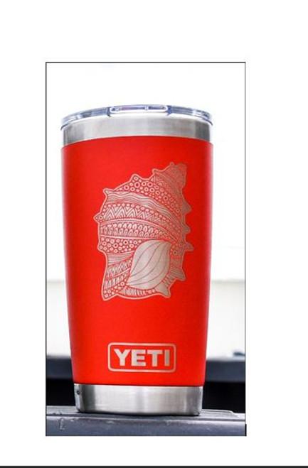 Seashell Yeti - Powder coated Red 20oz