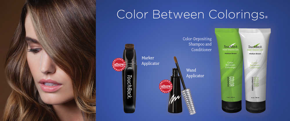 ColorMetrics Temporary Hair Color Products: TouchBack PRO, ColorMark PRO, TouchBack Shampoo & Conditioner, Streekers