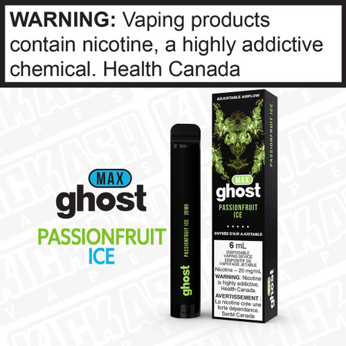 Ghost Max Disposable Passionfruit Ice