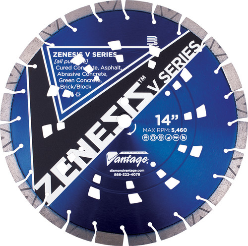 "14"" Zenesis All-Purpose Diamond Wheel"