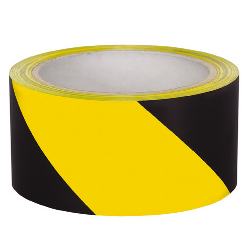"Hazard Stripe Tape-2""X36yd Black/Yellow"