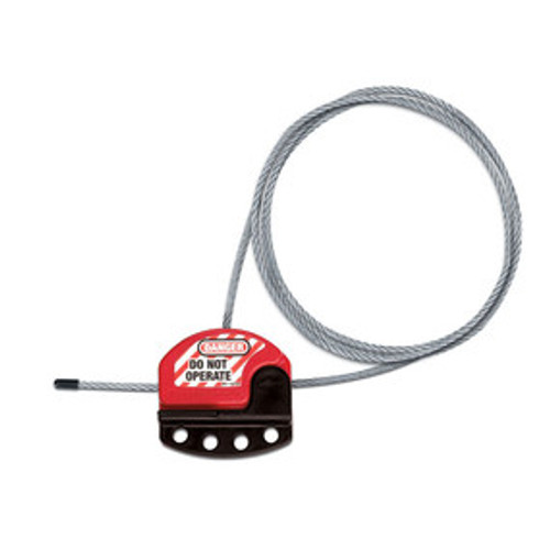 Adjustable Cable Lockout, 6ft