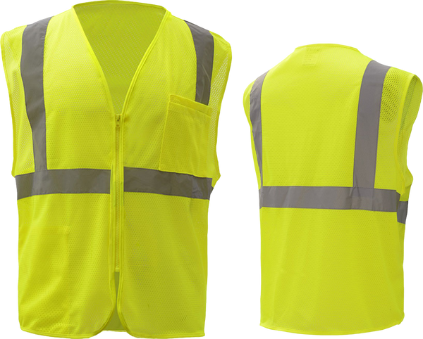 Safety Vest w/ Zipper (Class 2)
