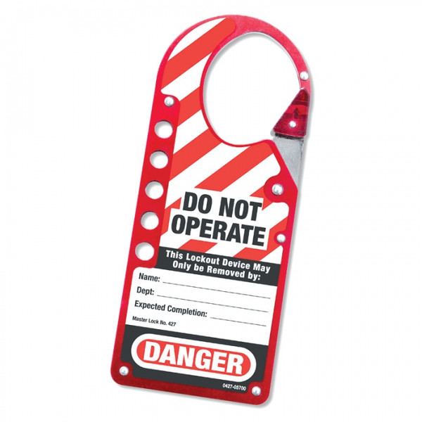 Labeled Snap-on Lockout Hasp