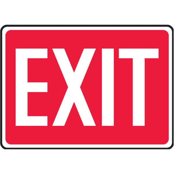 Exit Sign (White on Red)