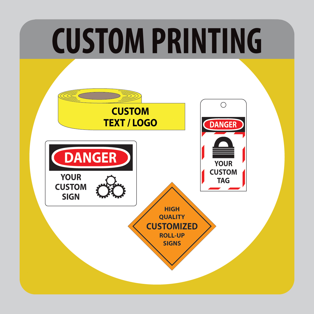 Custom Printing - Work Equipment