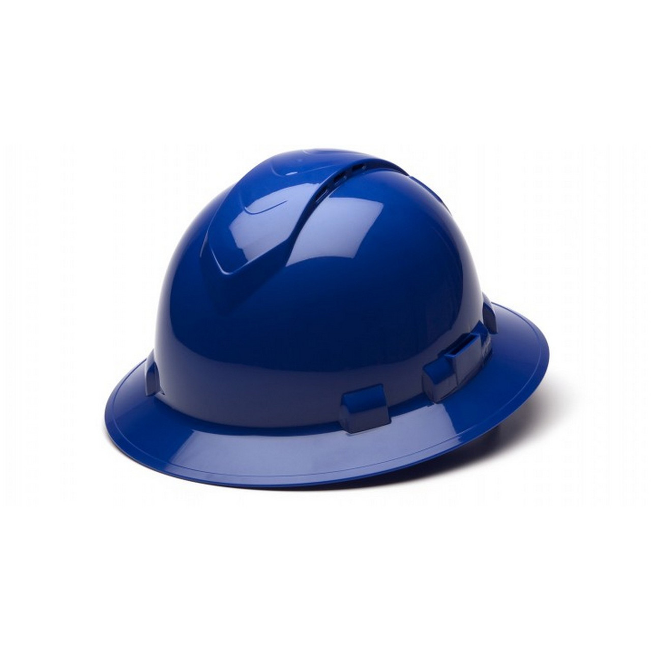 Ridgeline Full Brim 4 Pt Ratchet Suspension Hard Hat by Pyramex Safety