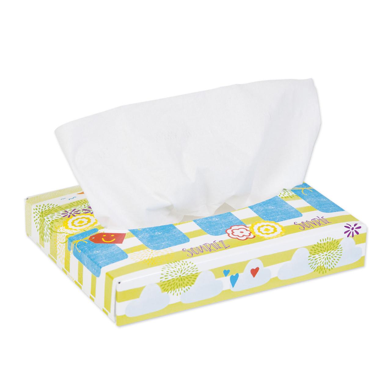 KLEENEX White Facial Tissue Bulk 2 Ply Absorbent Soft Strong 40 Sheets 80 Box