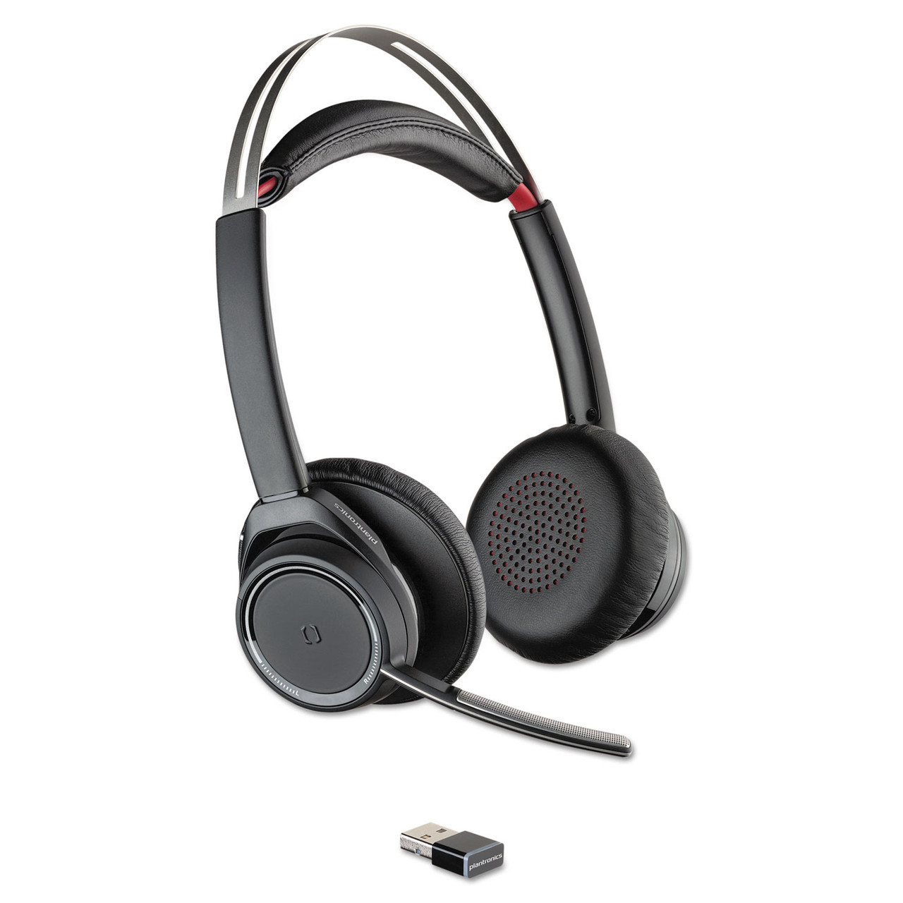 Plantronics Pln20265201 Voyager Focus Uc Stereo Bluetooth Headset System With Active Noise Canceling The Safety Source Llc