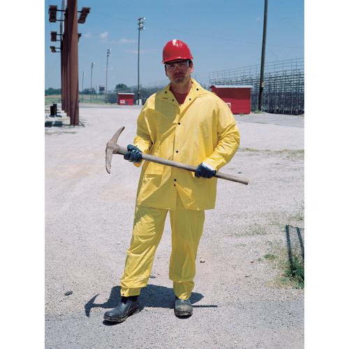 2X-Large Yellow MCR Safety O503X2 Zodiac PVC Single Ply 3-Piece Rainsuit