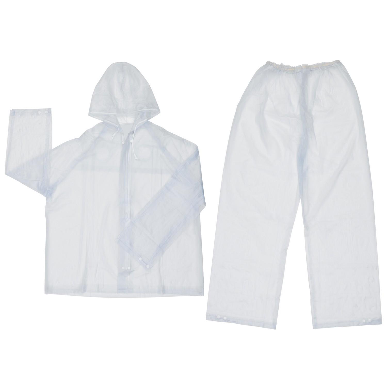 Yellow Medium MCR Safety 2903M Classic PVC//Polyester 3-Piece Rainsuit with Elastic Waist Pants