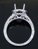 GBC12137 ROUND DIAMOND HALO SEMI MOUNT 18KW
