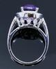 MKD10214 AMETHYST AND DIAMOND RING 14KW