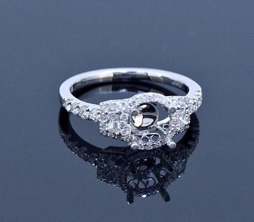 SIE10767 Diamond Halo Ring Mounting