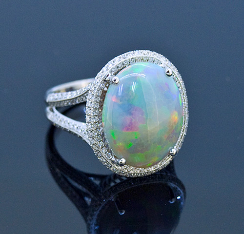 SIE10771 Stunning Opal and Diamond Ring
