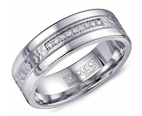 CB-2196 Torque Diamond Cobalt Wedding Ring