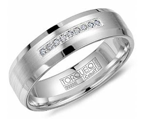 CB-2136 Torque Diamond Cobalt Wedding Ring