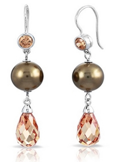 Alexandria Champagne Earrings