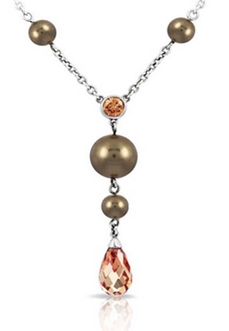 Belle Etoile Alexandria Champagne Necklace