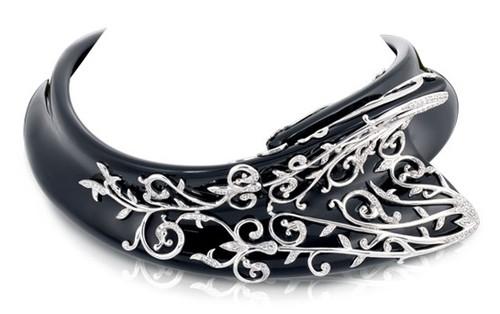 Anastacia Black Necklace