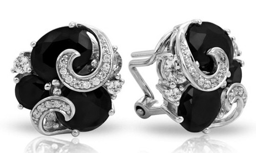 Andromeda Black and White Earrings