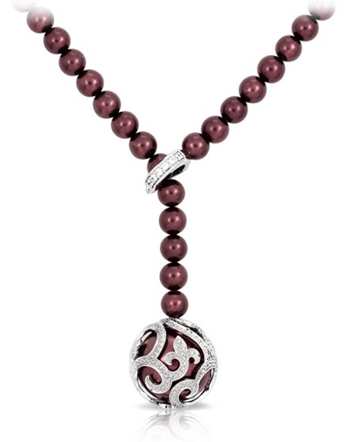 Beauty Bound Merlot Necklace
