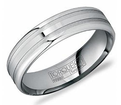 TU-0009 Torque Tungsten Wedding Ring 6mm wide