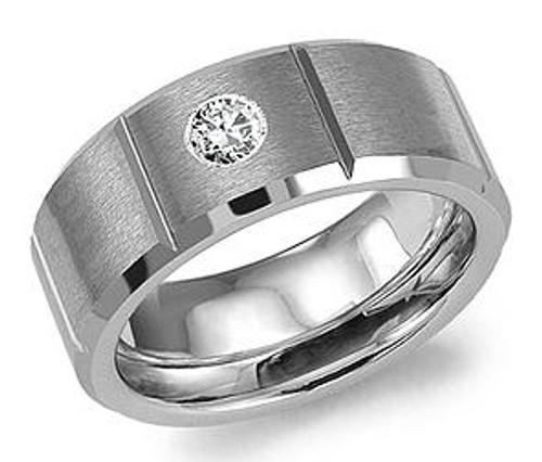 TU-5503 Torque Tungsten and Diamond Wedding Ring