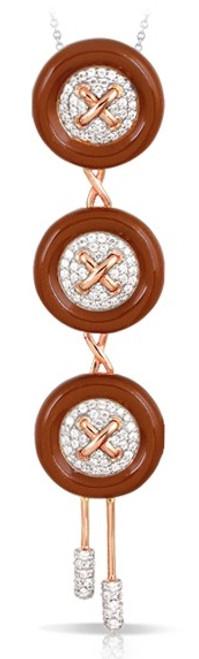 Button Brown Pendant
