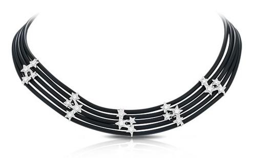 Belle Etoile Cosmos Necklace Black