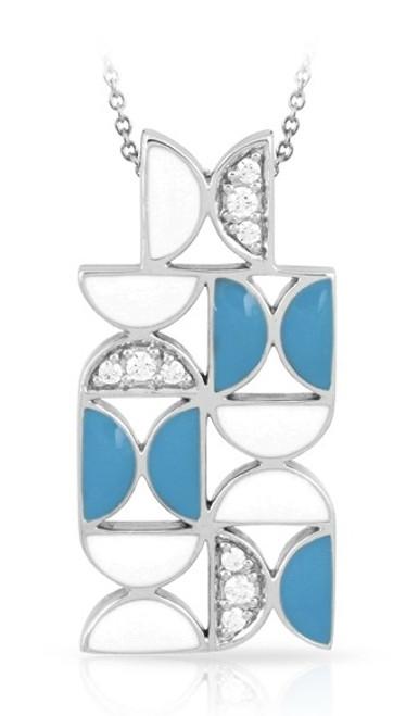 Belle Etoile Demiluna Pendant White & Blue