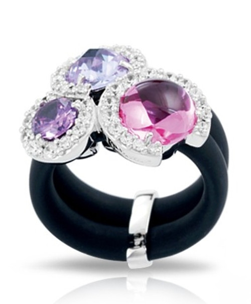 Belle Etoile Element Ring Black